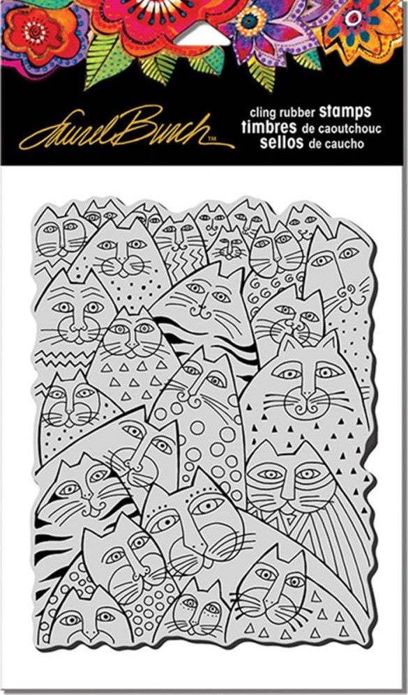 "Stampendous - Laurel Burch Cling Stamps 7.75"" x 4.5"" - Whiskers"