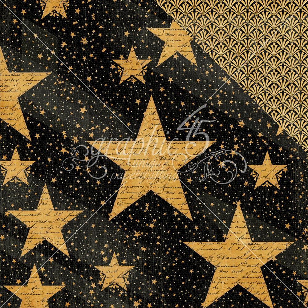 "Graphic 45 - Vintage Hollywood Double-Sided Cardstock 12"" x 12"" - Star Studded"