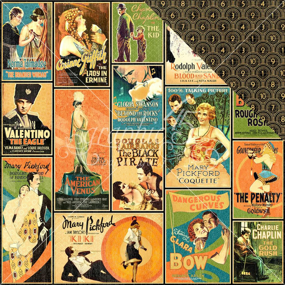 "Graphic 45 - Vintage Hollywood Double-Sided Cardstock 12"" x 12"" - Tinseltown"