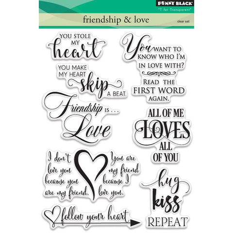 Penny Black - Clear Stamps - Friendship & Love