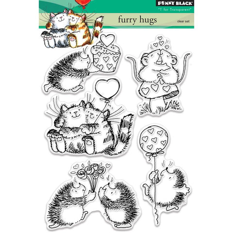 Penny Black - Clear Stamps - Furry Hugs