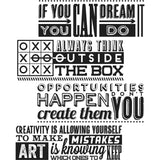 Stampers Anonymous - Tim Holtz Cling Stamps - Motivation 1