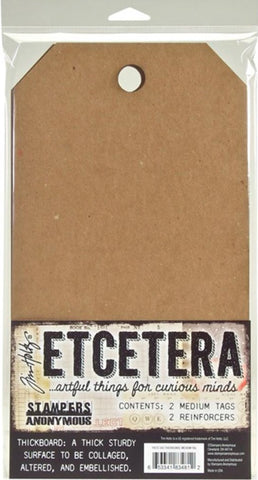 Stampers Anonymous - Tim Holtz Etcetera Thickboards - Medium Tag (Available Feb 20)