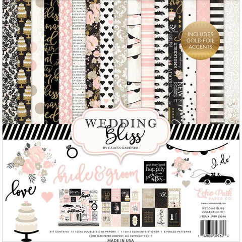 "Echo Park Paper - Wedding Bliss Collection Kit 12"" x 12"" (Available: April 17, 2017)"