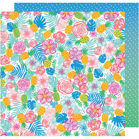 "American Crafts, Amy Tan On A Whim Double-Sided Cardstock 12""X12"" - Tropical Paradise"