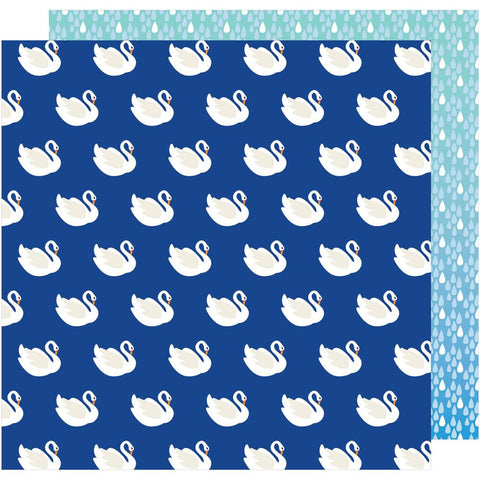 "American Crafts, Amy Tan On A Whim Double-Sided Cardstock 12""X12"" - Swan Dive"