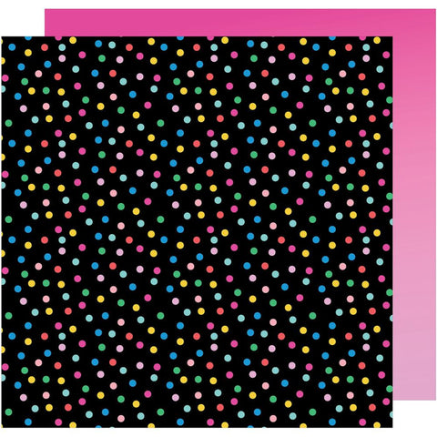 "American Crafts, Amy Tan On A Whim Double-Sided Cardstock 12""X12"" - Confetti"