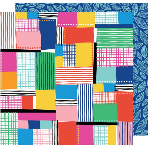 "American Crafts, Amy Tan On A Whim Double-Sided Cardstock 12""X12"" - Patchwork"