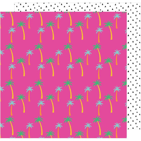 "American Crafts, Amy Tan On A Whim Double-Sided Cardstock 12""X12"" - Paradise"