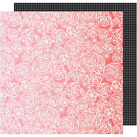 "American Crafts, Amy Tan On A Whim Double-Sided Cardstock 12""X12"" - Think Pink"