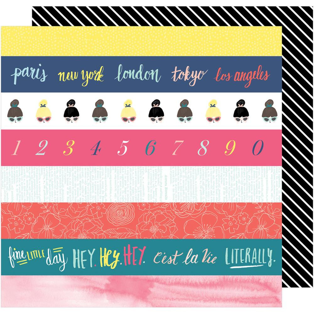 "American Crafts, Dear Lizzy Lovely Day Double-Sided Cardstock 12""X12"" - Literally Love"