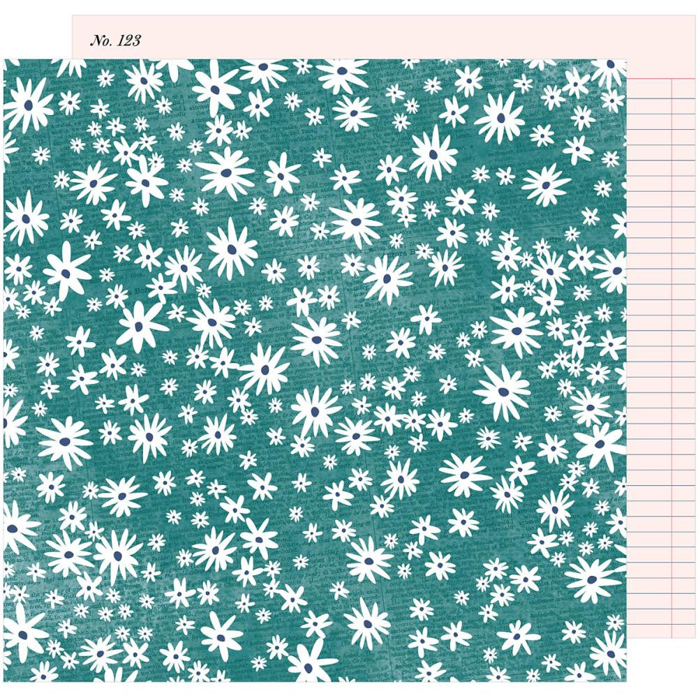 "American Crafts, Dear Lizzy Lovely Day Double-Sided Cardstock 12""X12"" - Darling Daisy"
