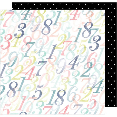 "American Crafts, Dear Lizzy Lovely Day Double-Sided Cardstock 12""X12"" - Counting Up"