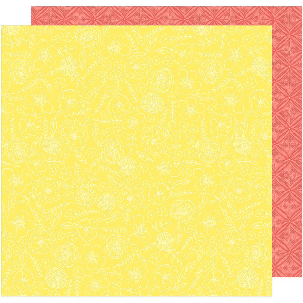 "American Crafts, Dear Lizzy Lovely Day Double-Sided Cardstock 12""X12"" - Sunny Day"