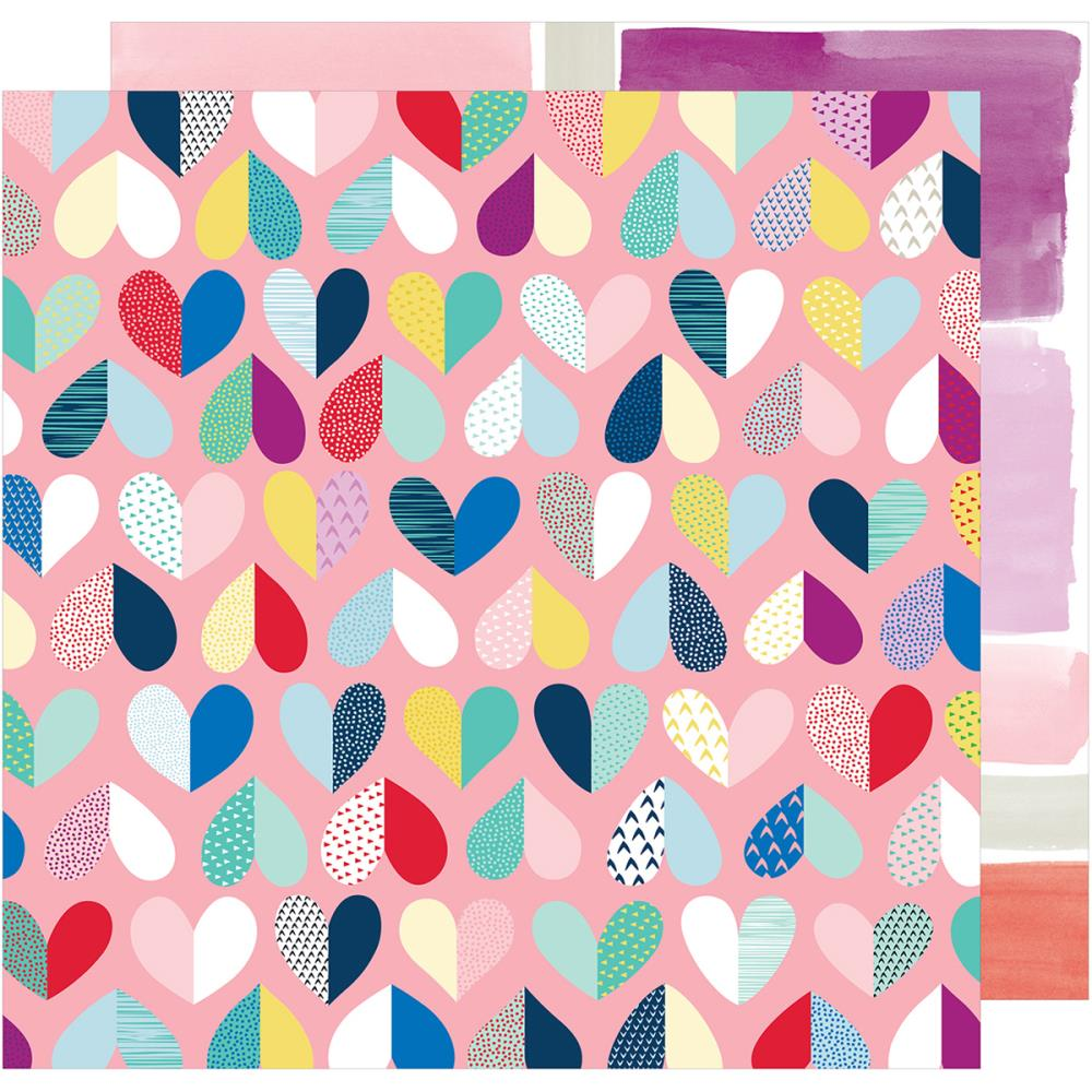 "American Crafts Shimelle Little By Little Double-Sided Cardstock 12""X12"" Evolving Love"
