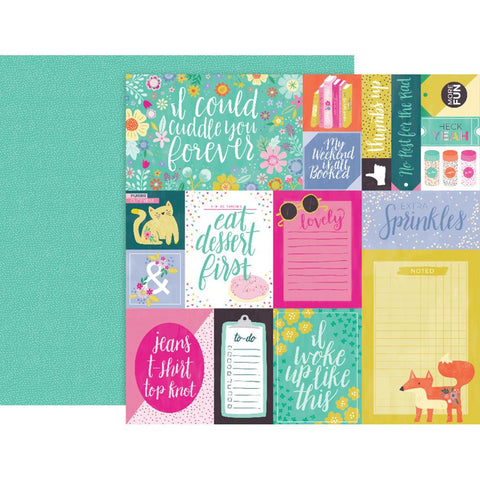 "Pink Paislee, Paige Evans Oh My Heart Double-Sided Cardstock 12""X12"" - #1 (Available 1/25)"