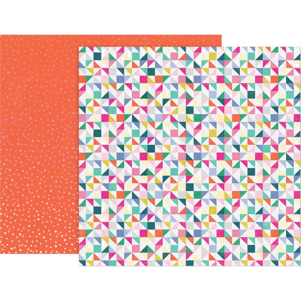 "Pink Paislee, Paige Evans Oh My Heart Double-Sided Cardstock 12""X12"" - #5"