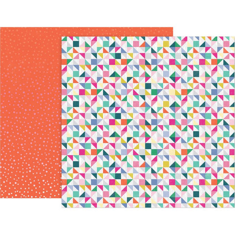 "Pink Paislee, Paige Evans Oh My Heart Double-Sided Cardstock 12""X12"" - #5 (Available 1/25)"