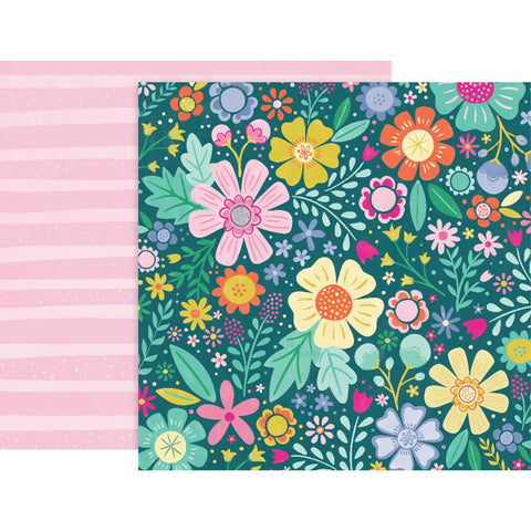 "Pink Paislee, Paige Evans Oh My Heart Double-Sided Cardstock 12""X12"" - #6"