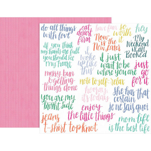 "Pink Paislee, Paige Evans Oh My Heart Double-Sided Cardstock 12""X12"" - #9 (Available 1/25)"