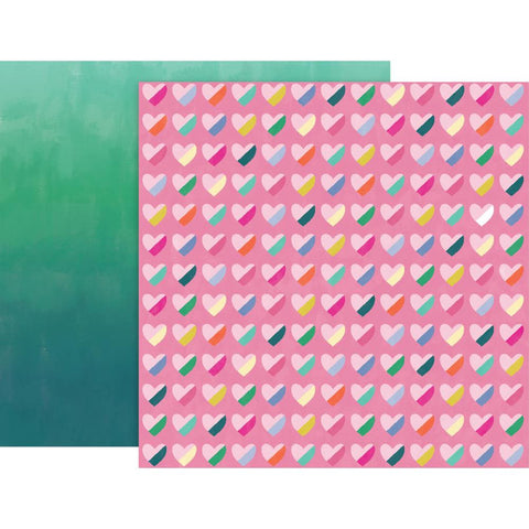 "Pink Paislee, Paige Evans Oh My Heart Double-Sided Cardstock 12""X12"" - #11 (Available 1/25)"