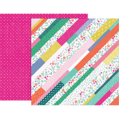 "Pink Paislee, Paige Evans Oh My Heart Double-Sided Cardstock 12""X12"" - #12 (Available 1/25)"