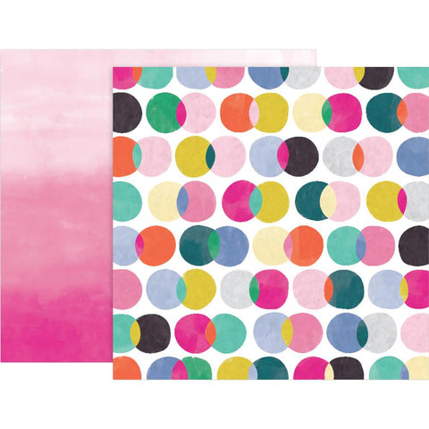 "Pink Paislee, Paige Evans Oh My Heart Double-Sided Cardstock 12""X12"" - #14 (Available 1/25)"