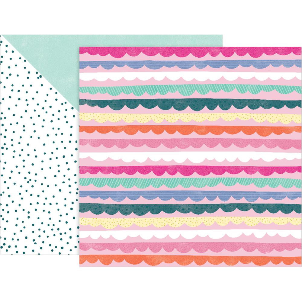 12x12 Paige Evans Pink Paislee Turn the Page #14 Double-Sided Cardstock Paper