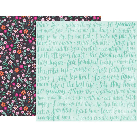 "Pink Paislee, Paige Evans Oh My Heart Double-Sided Cardstock 12""X12"" - #18 (Available 1/25)"