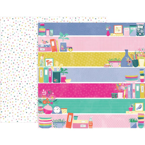 "Pink Paislee, Paige Evans Oh My Heart Double-Sided Cardstock 12""X12"" - #21 (Available 1/25)"