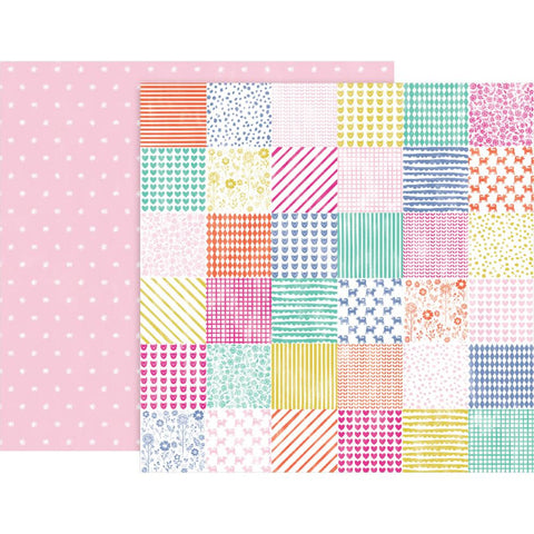 "Pink Paislee, Paige Evans Oh My Heart Double-Sided Cardstock 12""X12"" - #24 (Available 1/25)"