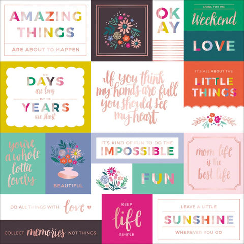 "Pink Paislee, Paige Evans Oh My Heart Foiled Cardstock 12""X12"" - W/Rose Gold (Available 1/25)"
