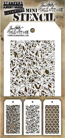 Stampers Anonymous - Tim Holtz Mini Layering Stencil - Set #24