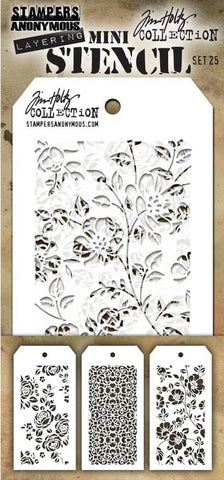 Stampers Anonymous - Tim Holtz Mini Layering Stencil - Set #25