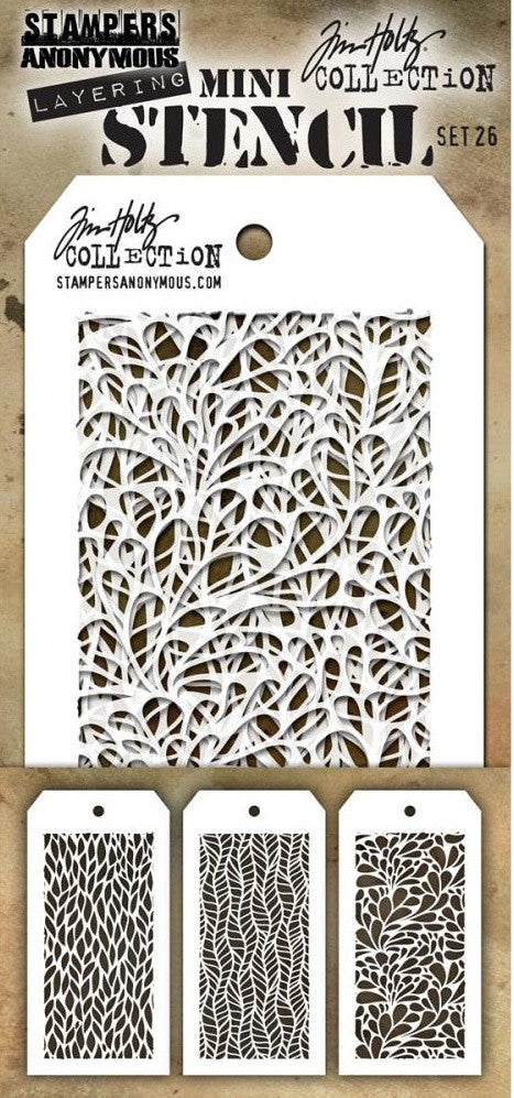 Stampers Anonymous - Tim Holtz Mini Layering Stencil - Set #26
