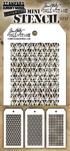 Stampers Anonymous - Tim Holtz Mini Layering Stencil - Set #27