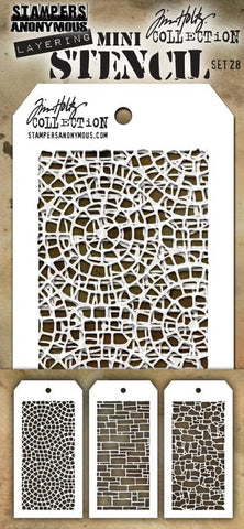 ***Pre-Order*** Stampers Anonymous - Tim Holtz Mini Layering Stencil - Set #28
