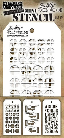 ***Pre-Order*** Stampers Anonymous - Tim Holtz Mini Layering Stencil - Set #29
