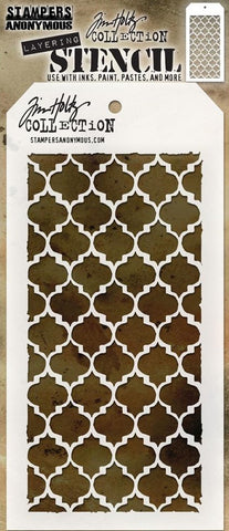 Stampers Anonymous - Tim Holtz Layering Stencil - Trellis