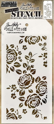 Stampers Anonymous - Tim Holtz Layering Stencil - Roses