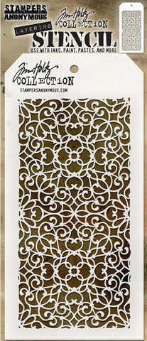 Stampers Anonymous - Tim Holtz Layering Stencil - Ornate