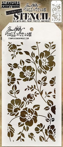 Stampers Anonymous - Tim Holtz Layering Stencil - Floral