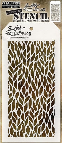 Stampers Anonymous - Tim Holtz Layering Stencil - Leafy
