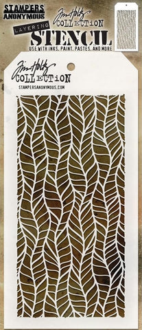 Stampers Anonymous - Tim Holtz Layering Stencil - Feather