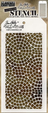 Stampers Anonymous - Tim Holtz Layering Stencil - Mosaic