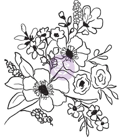***Pre-Order*** Prima Marketing - Christine Adolf Cling Rubber Stamps - Fresh Flowers #2