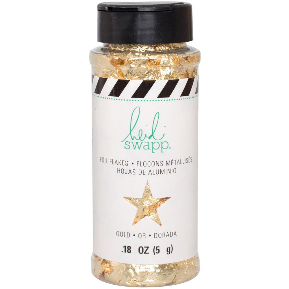 Heidi Swapp Foil Flakes 3 Ounces/Jar - Gold