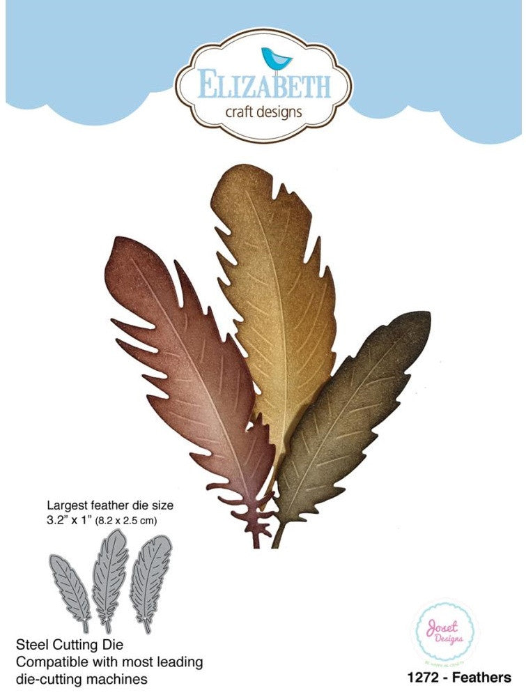 Elizabeth Craft Designs - Metal Die By Joset Designs - Feathers