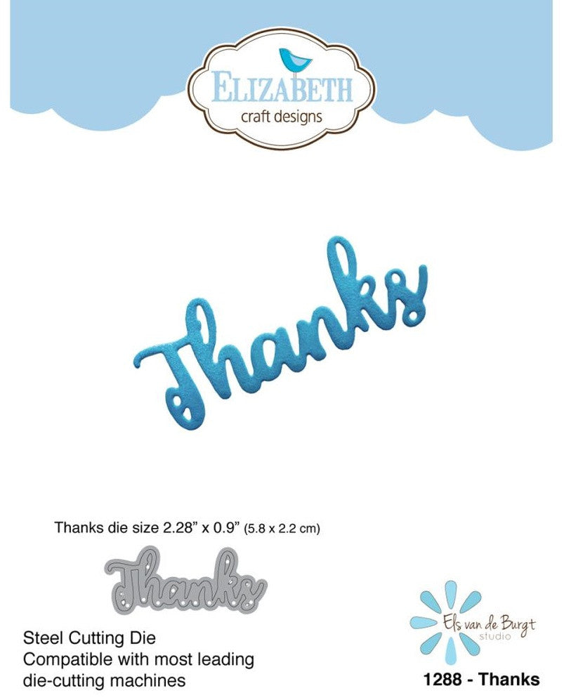 Elizabeth Craft Designs - Craft Die - Thanks