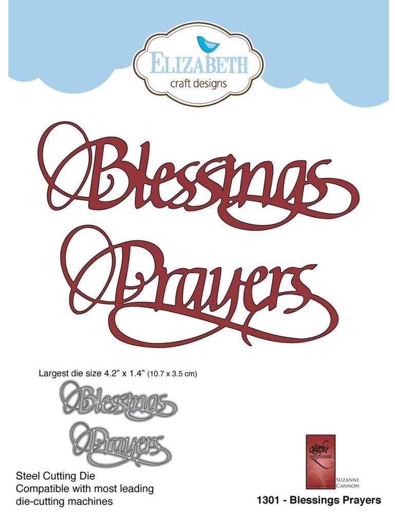 Elizabeth Craft Designs - Metal Die By Suzanne Cannon - Blessings Prayers
